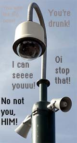 a police state in england with talking cctv cameras
